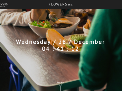 サイトオープンの挨拶 FLOWERS Inc.